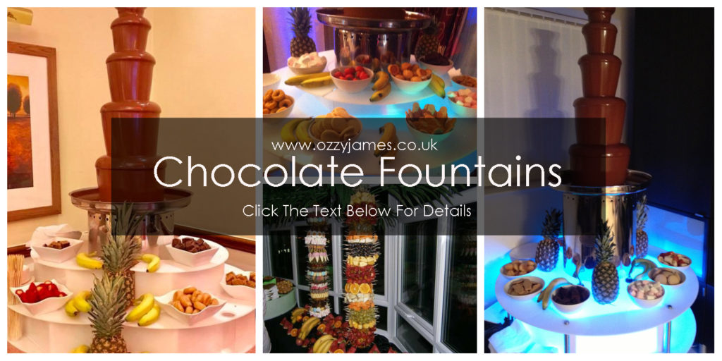 Chocolate Fountain Hire Cheshire, Liverpool, Wales, Northwest - Ozzy James Events