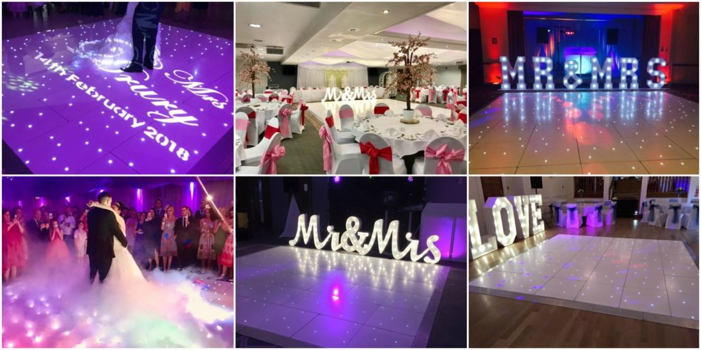 Dance Floor Hire In Liverpool - White LED Dance Floor Hire from just £195