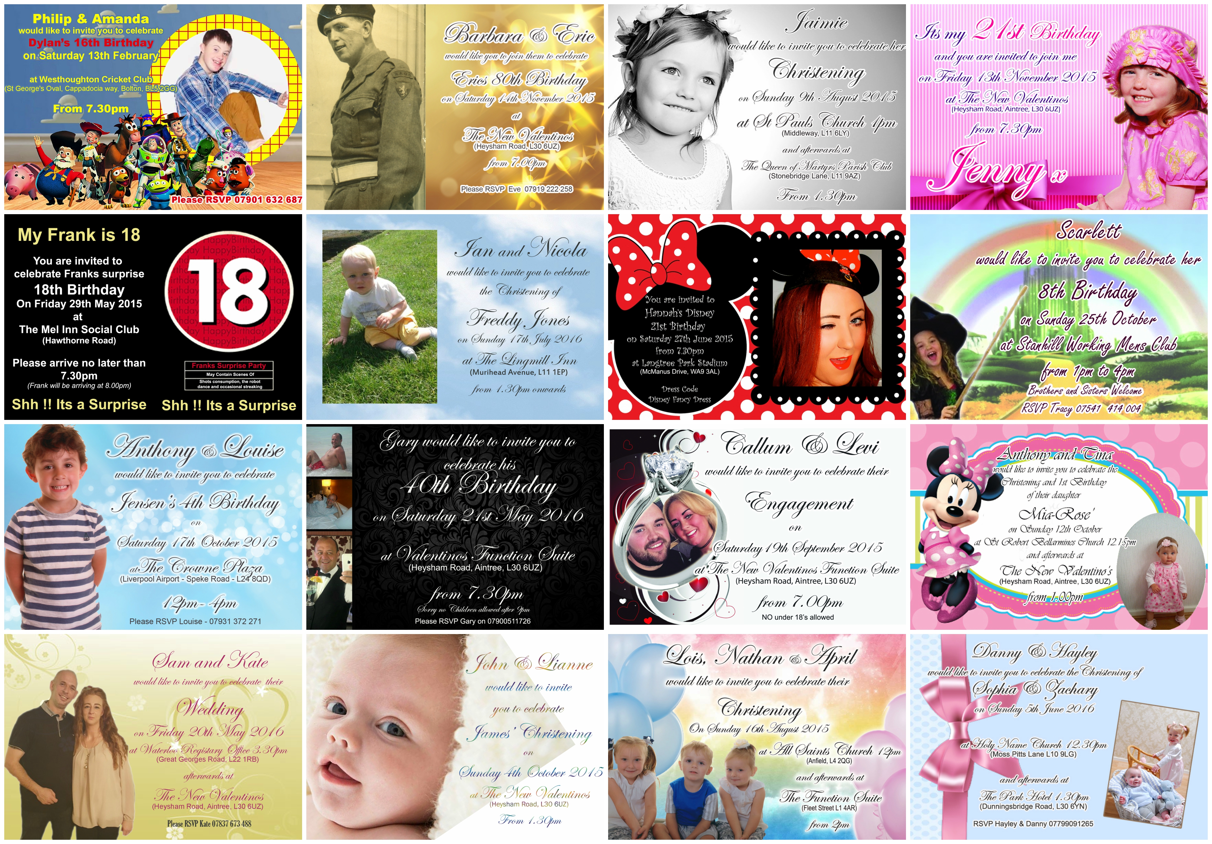 Personalised Party Invitations - Ozzy James Parties & Events