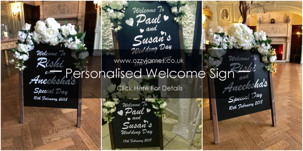 personalised wedding welcome sign copy