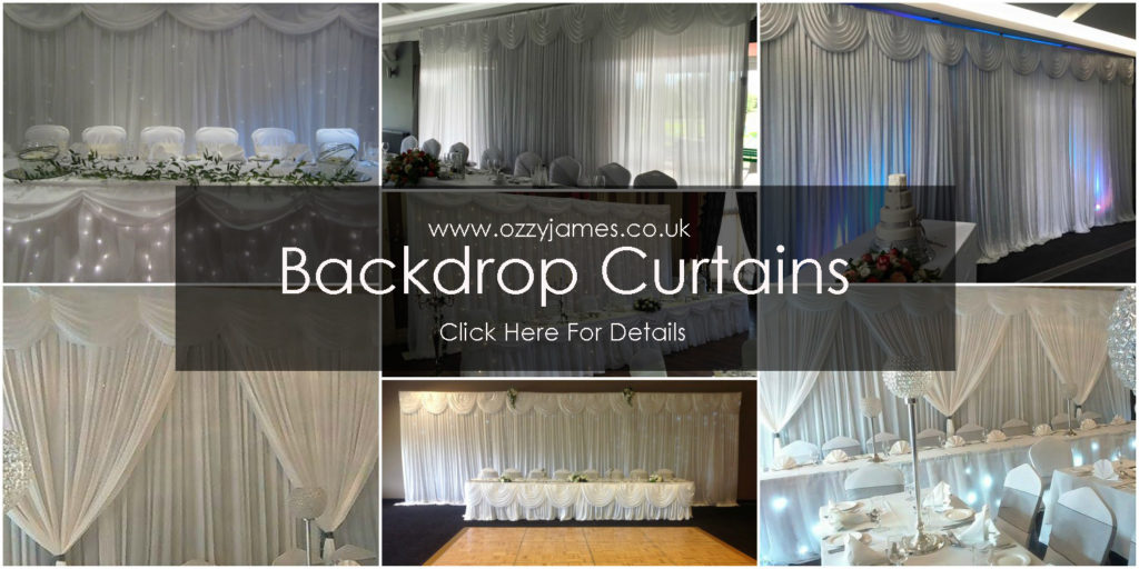 wedding backdrop curtain hire