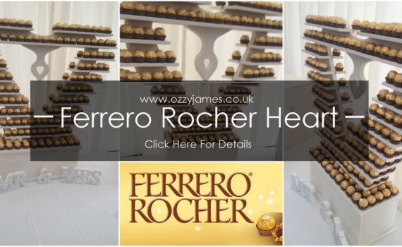 ferrero rocher heart to hire