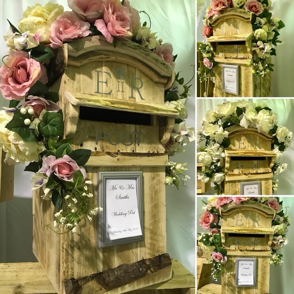 rustic post box hire wooden post box hire natural wood post box hire