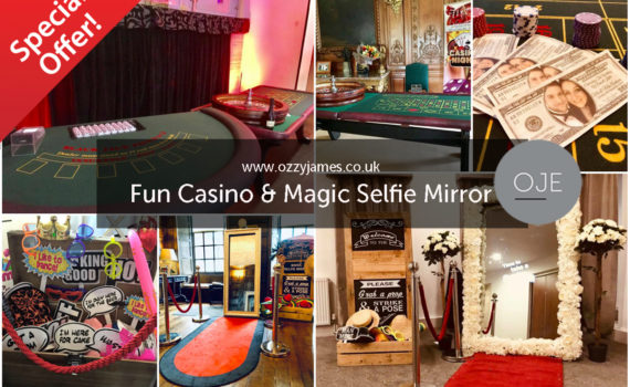 Fun Casino Party Package Hire - Liverpool, Warrington, Widnes, Wirral, Cheshire - Ozzy James Events