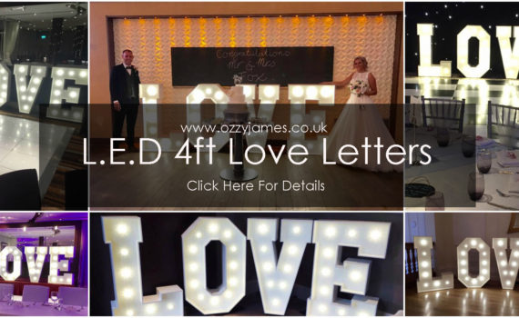 Love letter sign hire