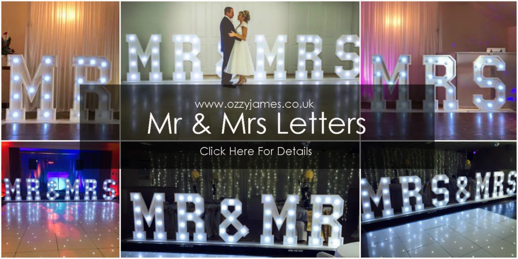 Mr and Mrs Wedding Letter Hire