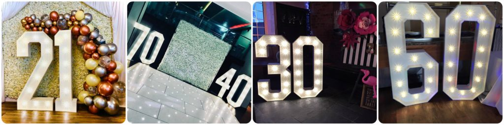 LED Birthday Numbers For Hire In Liverpool, Wirral, Merseyside, Southport5, Formby - Ozzy James Events