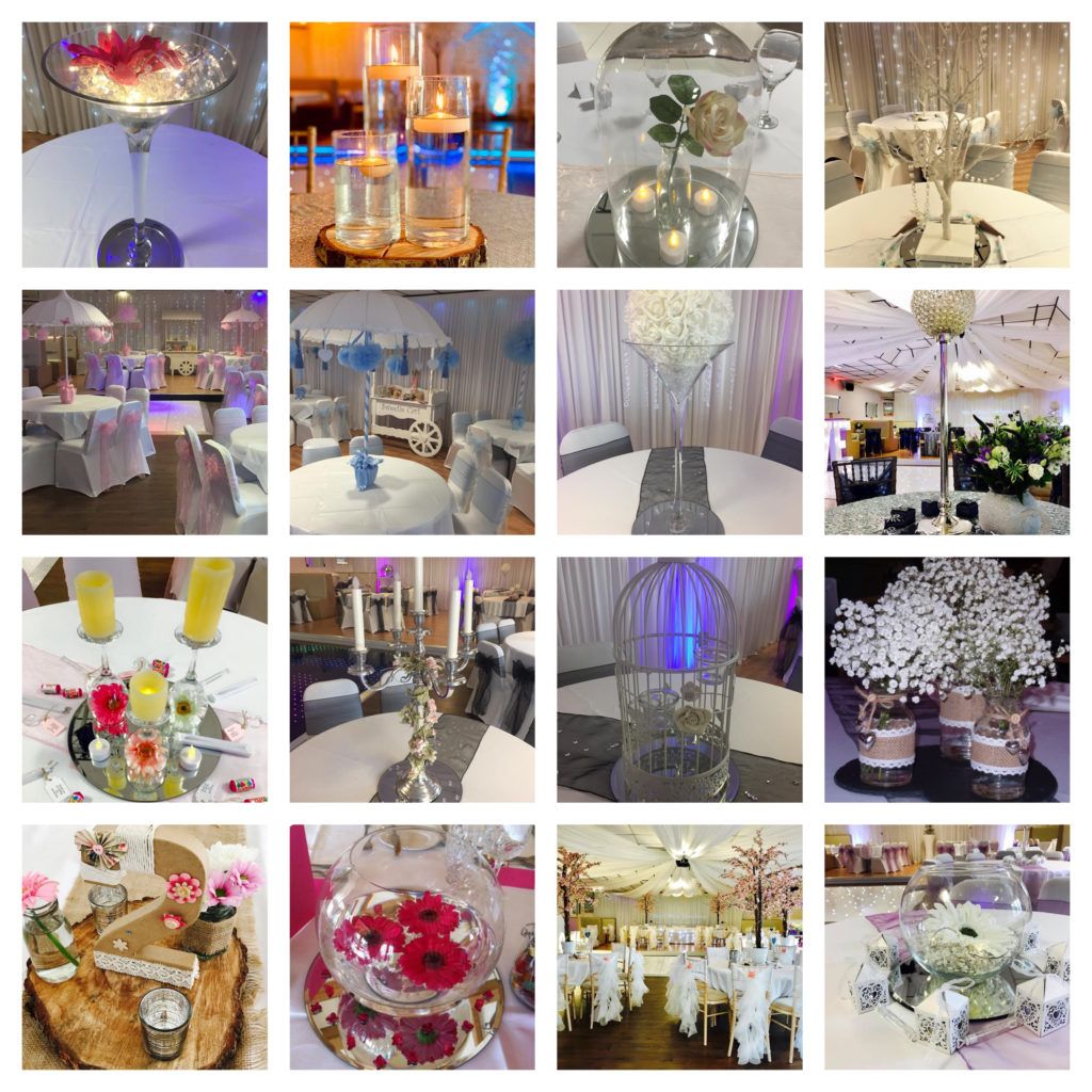 Wedding Party Table Centrepiece Hire Liverpool - Table Centrepieces Hire Cheshire