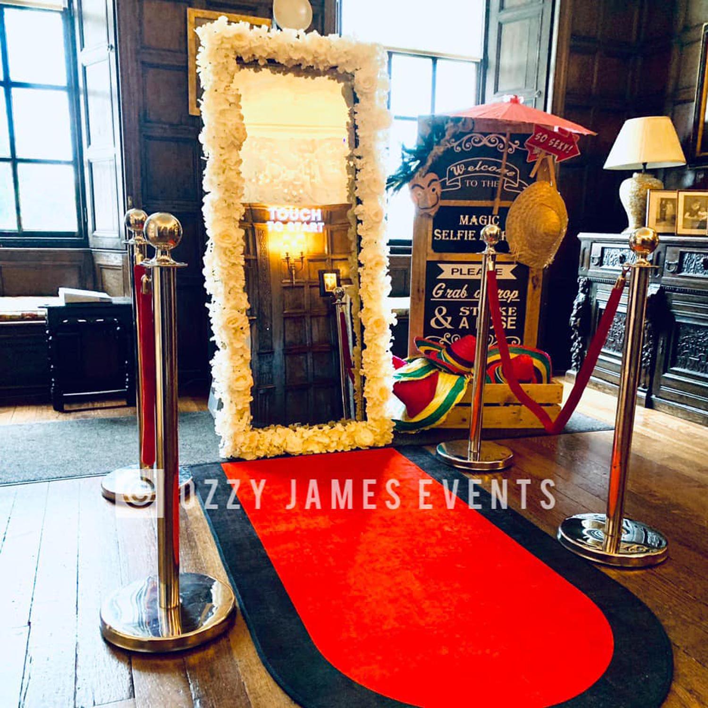Magic mirror booth hire merseyside, magic selfie mirror hire northwest, Knowsley Hall Wedding Venue Liverpool