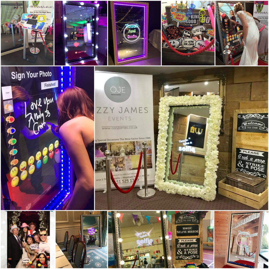 magic selfie mirror hire northwest, mirror booth hire, magic photo mirror hire