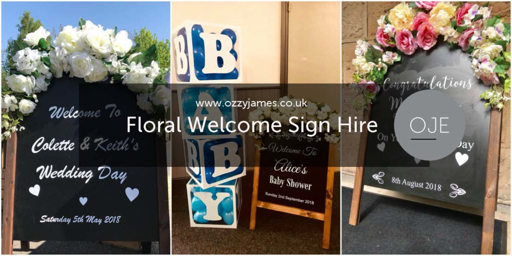 Personalised Floral Welcome Sign Hire Liverpool Cheshire - Personalised Baby Shower Sign Liverpool