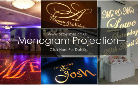 Wedding Name Projection Wedding Monogram - Liverpool, Cheshire, Wirral