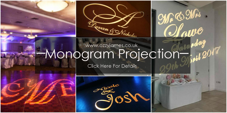 wedding name projection wedding monogram