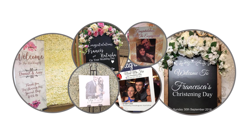 Personalised Selfie Frames Liverpool - Personalised Party Printing Liverpool - Wedding Sign Hire Liverpool