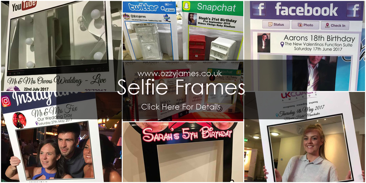 Personalised Selfie Frames Ozzy James Parties Amp Events