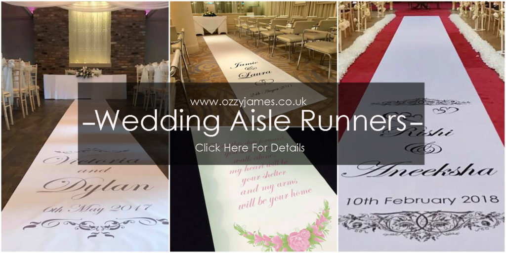 personalised wedding aisle runners
