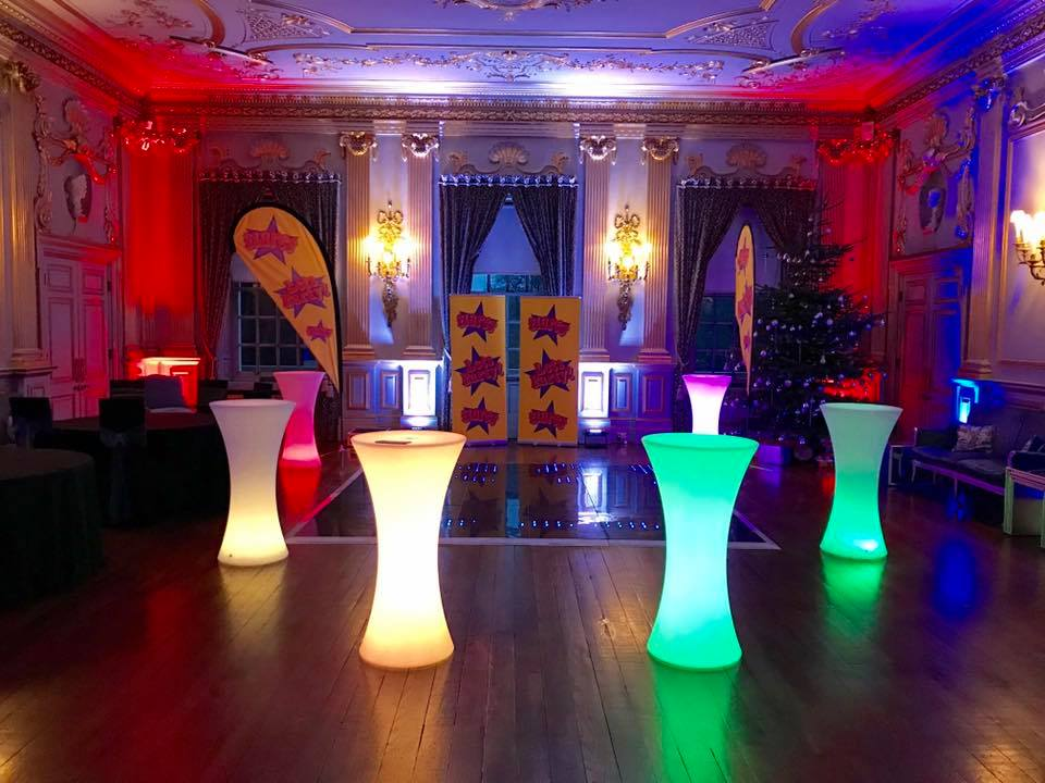 LED Glow Table Hire, Liverpool, Wirral, Southport, Formby - Ozzy James Events