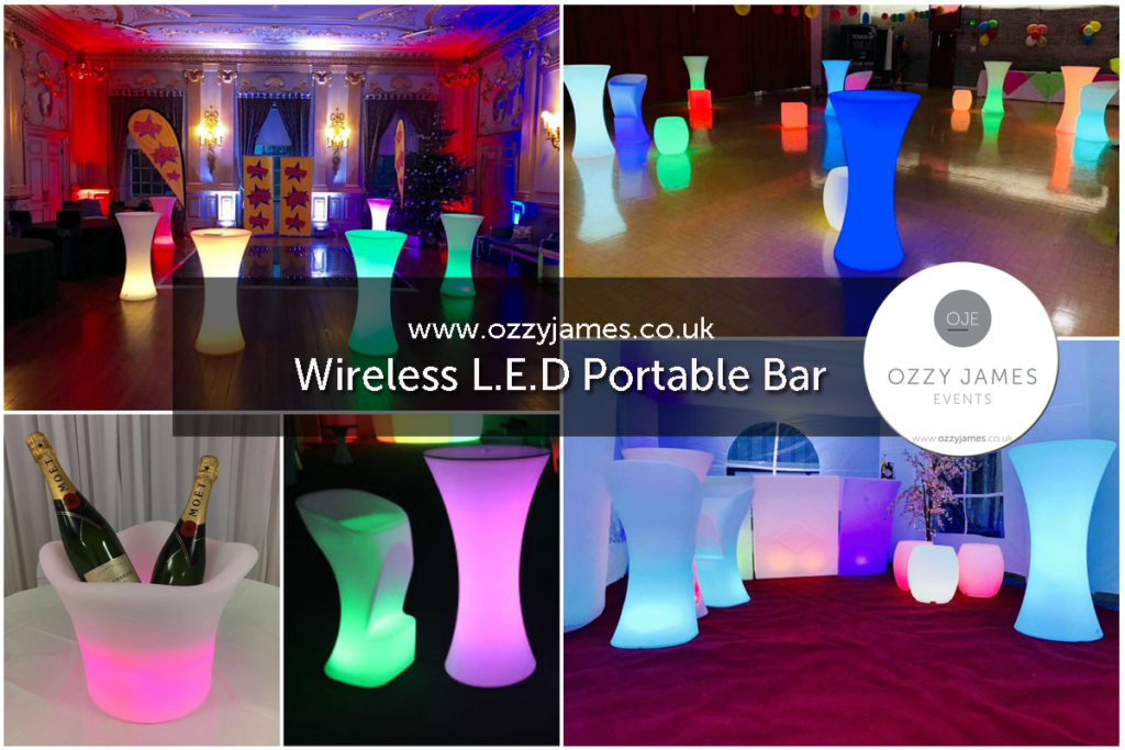 LED Bar Hire, LED Glow Bar Party Hire, Liverpool, Merseyside, Wirral, Warrington, Cheshire - Ozzy James Events