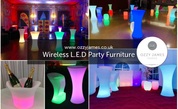 LED Outdoor Glow Party Marquee Furniture Hire, Liverpool, Merseyside, Wirral, Warrington, Widnes, Cheshire - Ozzy James Events