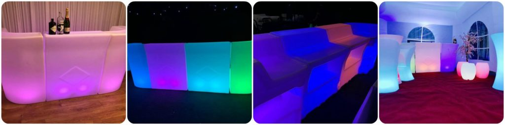 LED Bar Marquee Bar Hire Light Up Glow Bar Liverpool, Wirral, Merseyside - Ozzy James Events