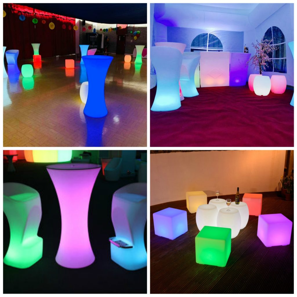 LED Party Furniture Hire, Party Hire Liverpool, Merseyside, Wirral, Warrington, Widnes, Southport - Ozzy James Events