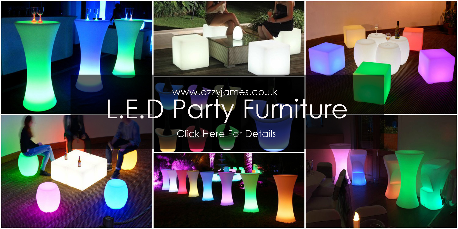 LED furniture hire liverpool