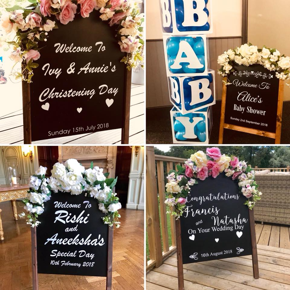 Personalised Floral Welcome To The Wedding Sign - Ozzy James Events
