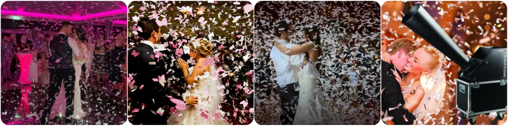 Confetti Canon Hire Liverpool, Wirral, Widnes, Wigan, Warrington, Cheshire - Ozzy James Events