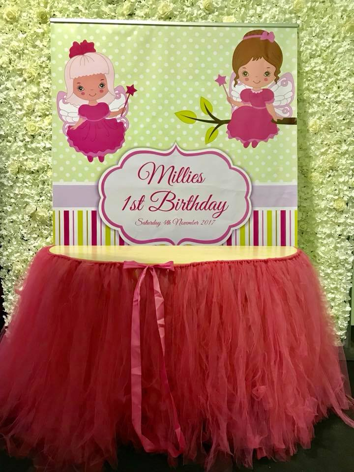 kids party cake table hire