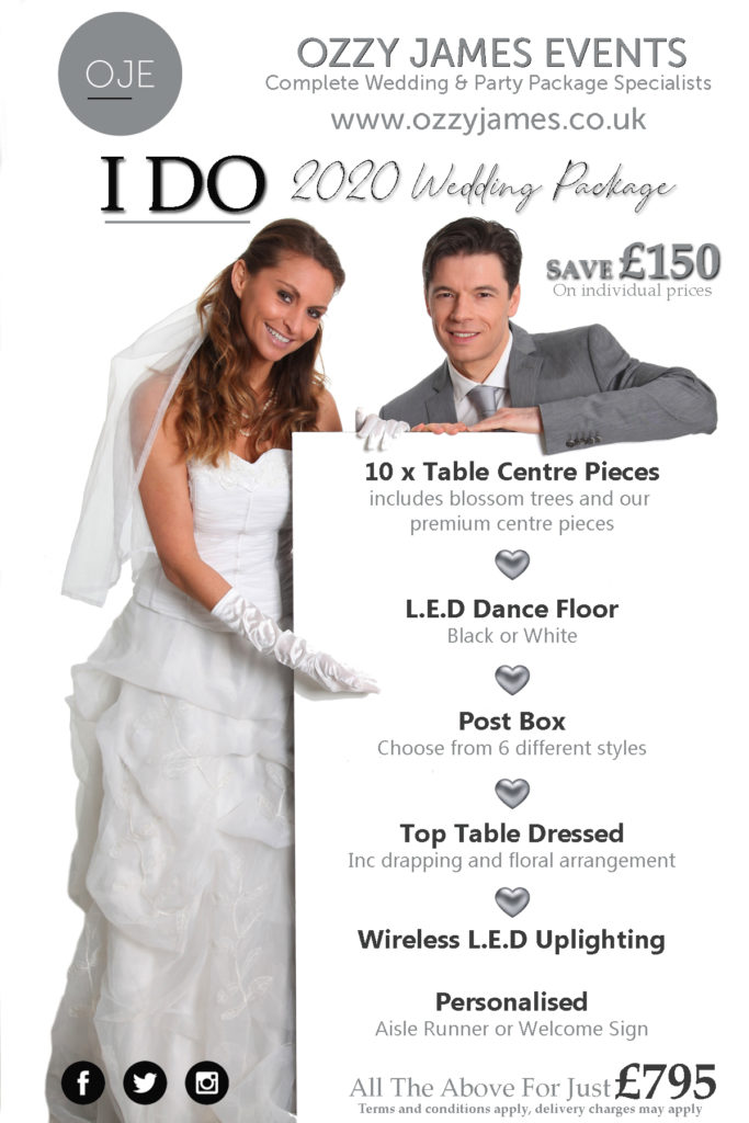 Special Offer Wedding Packages, Discount Wedding Package, Liverpool, Wirral, Cheshire, Widnes - Ozzy James Events