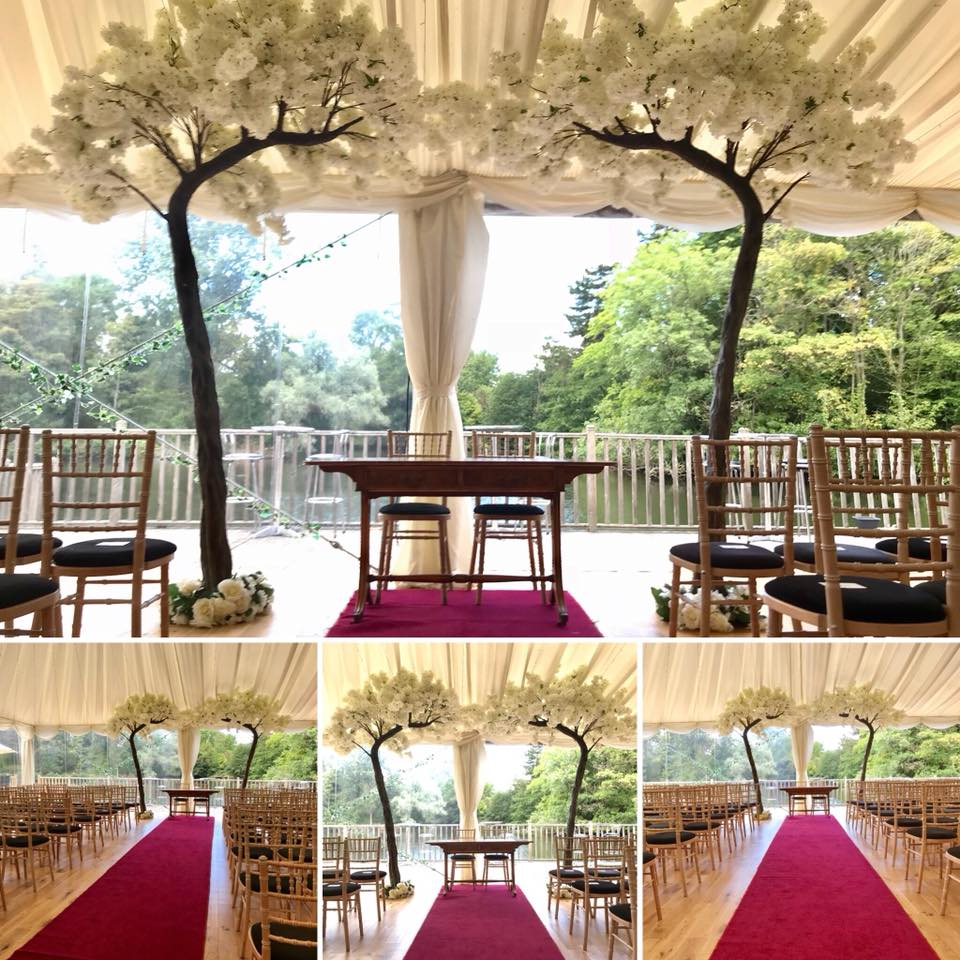 Giant Blossom Canopy Tree Hire Liverpool- Wedding Blossom Tree Hire Merseyside, Thornton Manor Wedding Venue