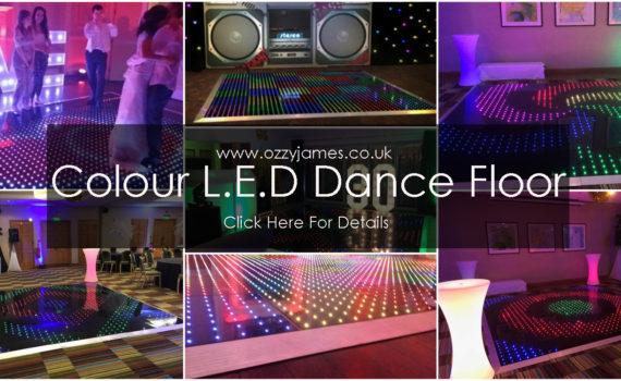 colour LED dance floor hire