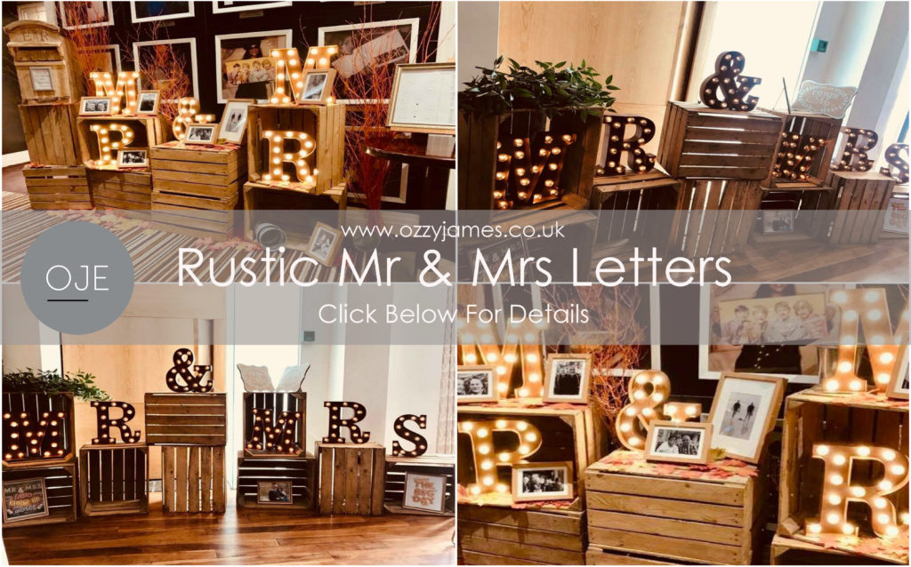 Rustic Mr & Mrs Wedding Letters For Hire ~ Rustic Wedding Sign Hire ~ Rustic Wedding Hire Liverpool, Cheshire, Wirral, Chester, Flintshire, Wales