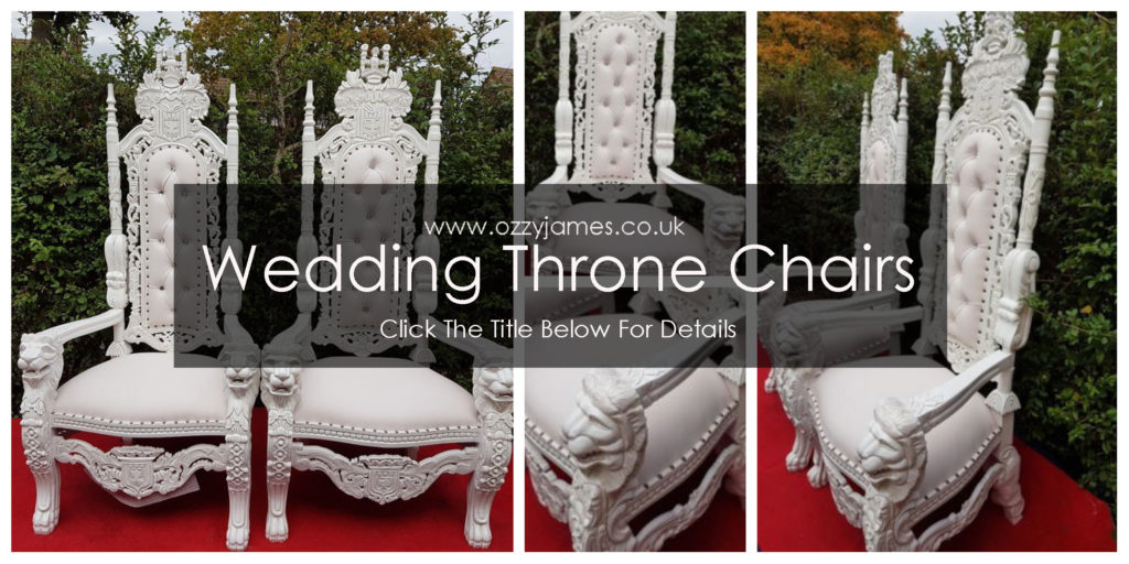White Wedding Throne Chair Hire Liverpool, Cheshire, Northwest - Ozzy James Events