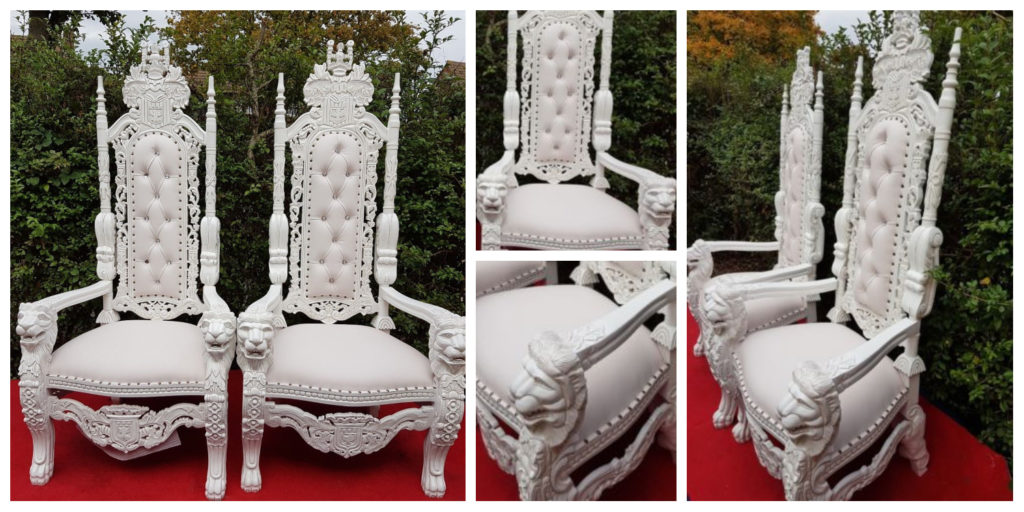 white wedding throne chair hire liverpool cheshire manchester northwest - Ozzy James Events