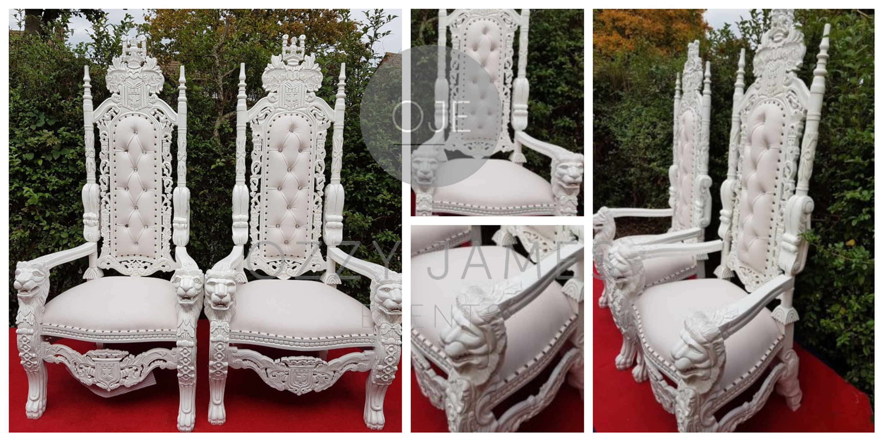 White wedding throne chair hire liverpool cheshire manchester northwest ozzy james events