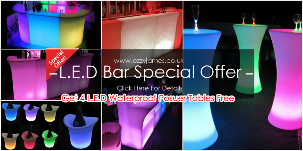 cheap led bar hire northwest