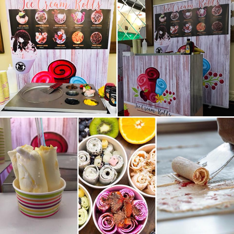 rolled ice cream bar hire cheshire