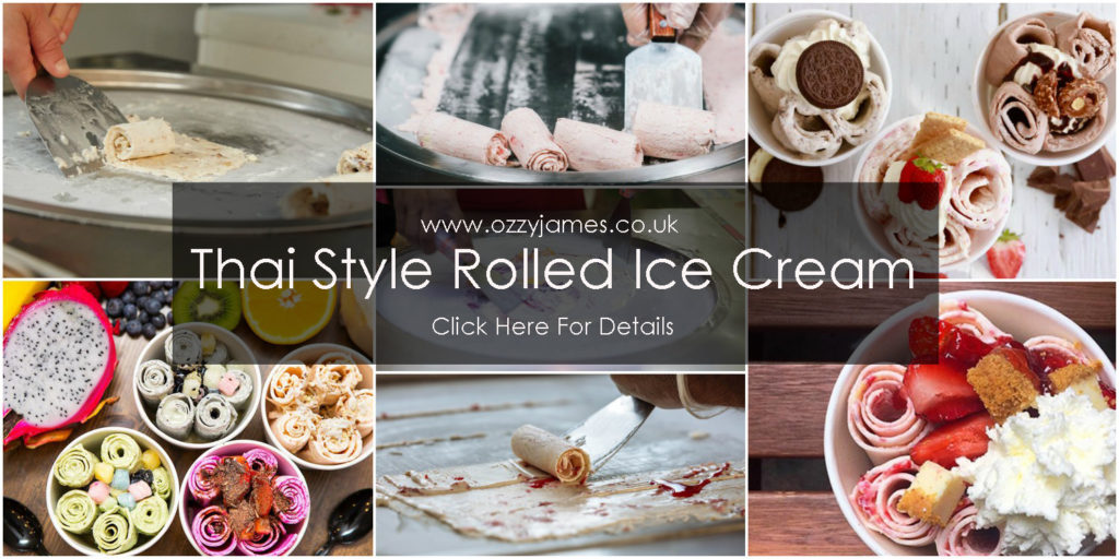 rolled ice cream machine hire