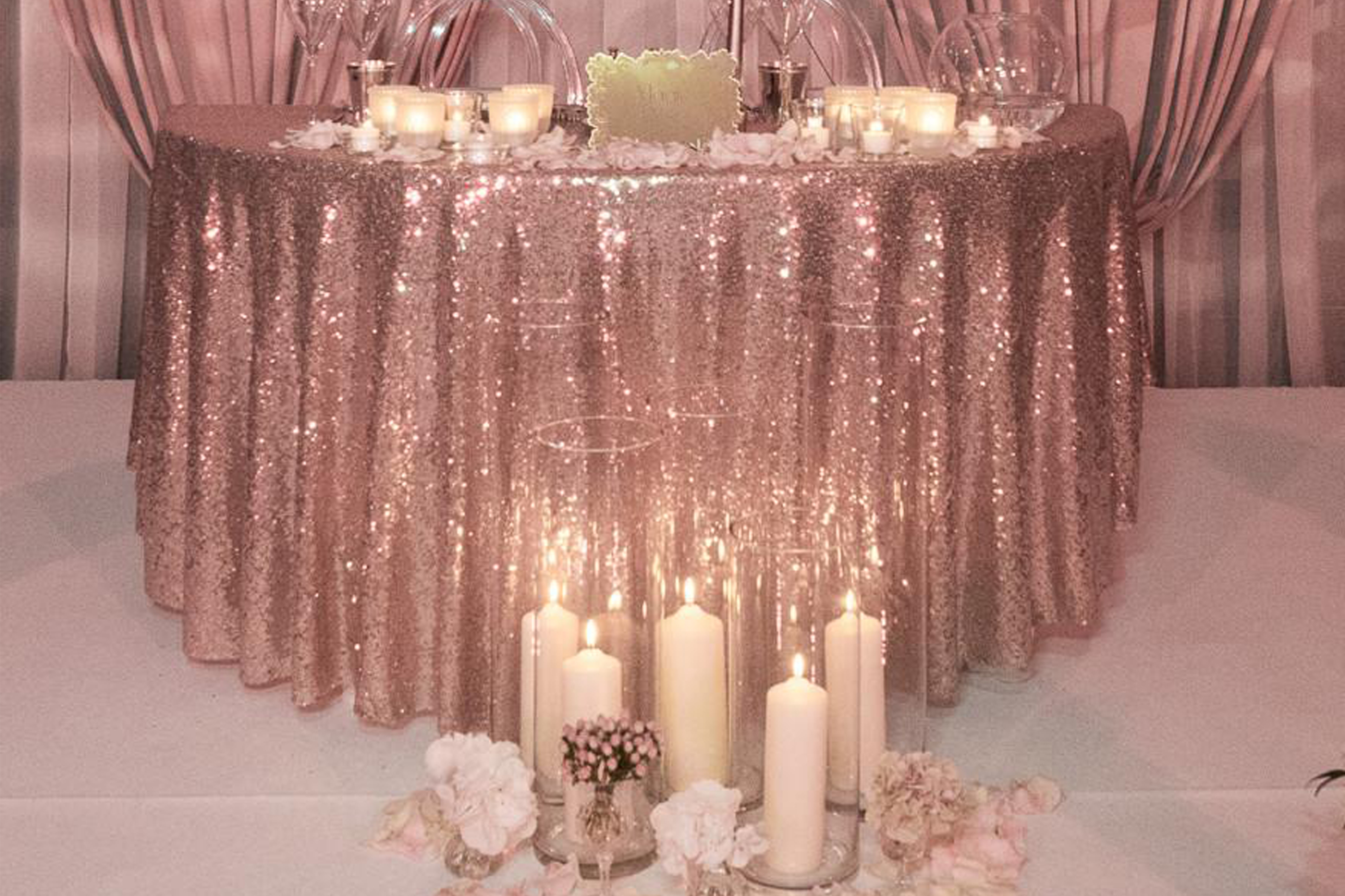 Sequin Table Linen Hire Ozzy James Parties Amp Events