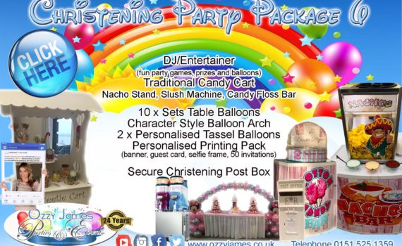 Christening Party Packages Northwest - Ozzy James Parties & Events
