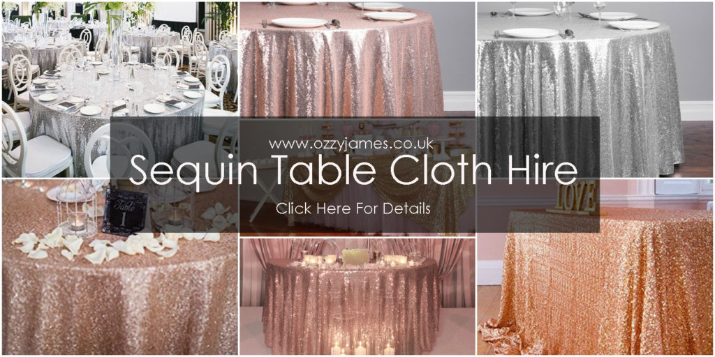 sequin table cloth hire Liverpool Merseyside Northwest