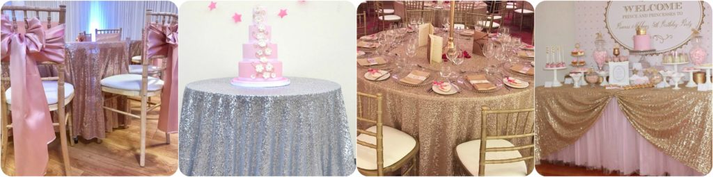 Sequin Table Cloth Hire Liverpool, Warrington, Wirral, Southport - Ozzy James Events