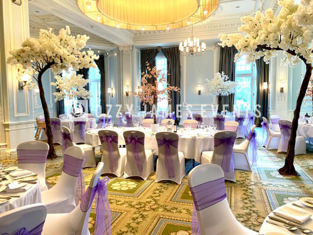 White Blossom Canopy Tree Hire - Wedding Blossom Tree Arch Hire - Midland Hotel Manchester Weddings
