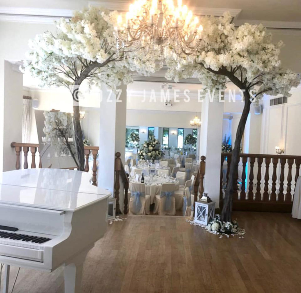 Blossom canopy tree hire - Blossom tree arch Hire - West tower country house wedding venue