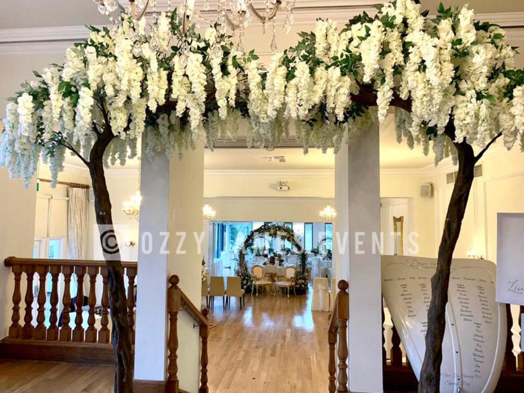 Trailing Wisteria Blossom Canopy Arch Hire , Liverpool, Wirral, Cheshire, Warrington, Widnes, Preston - Ozzy James Events