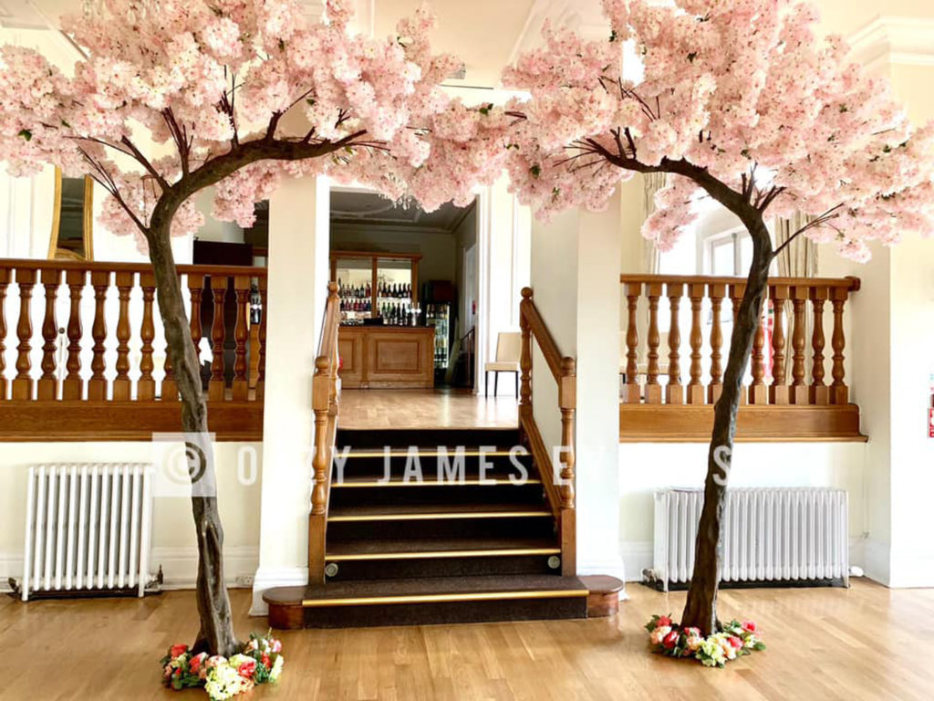 Blush Pink Blossom Canopy Wedding Arch Tree Hire in Liverpool, Cheshire, Wirral, Preston, Warrington, Widnes - Ozzy James Events