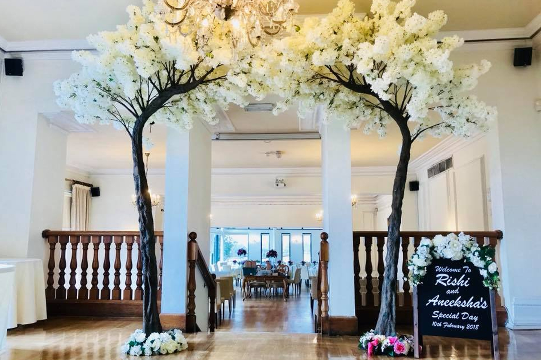 10ft White Blossom Tree Canopy Hire Ozzy James Parties