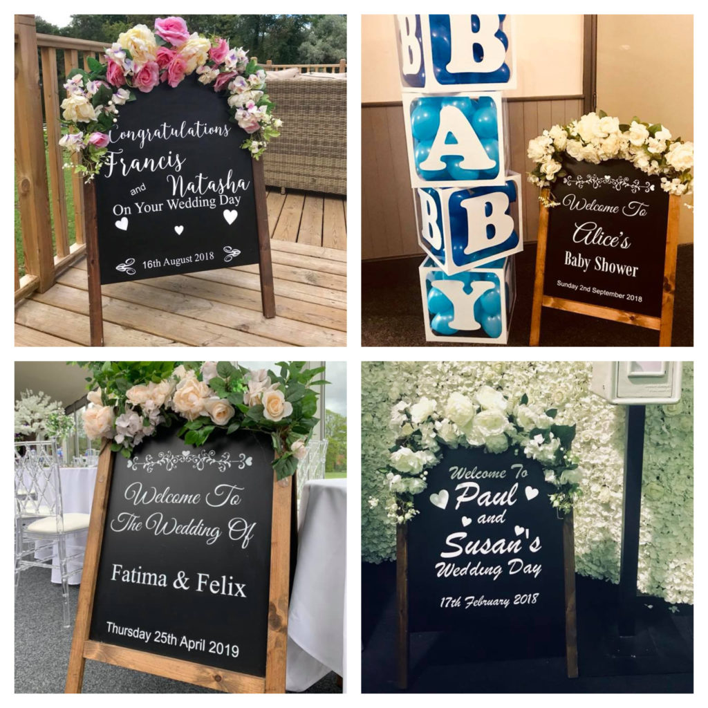 Floral Welcome Sign Hire- wedding Ozzy James Parties & Events