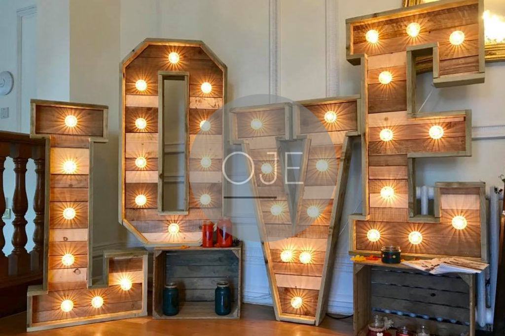 Rustic Love Letter Hire Liverpool - Rustic Love Letters For Hire